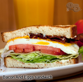 Bacon and Eggs sandwich