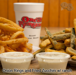 Onion Rings and Fried Zucchini w/ ranch